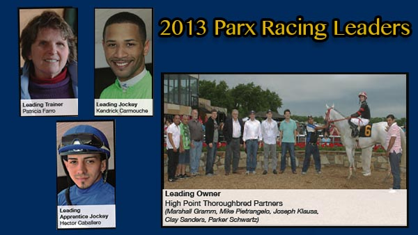 2013 Parx Racing Leaders